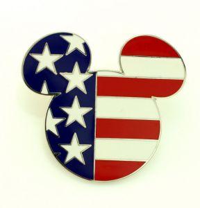 mickey flag pin